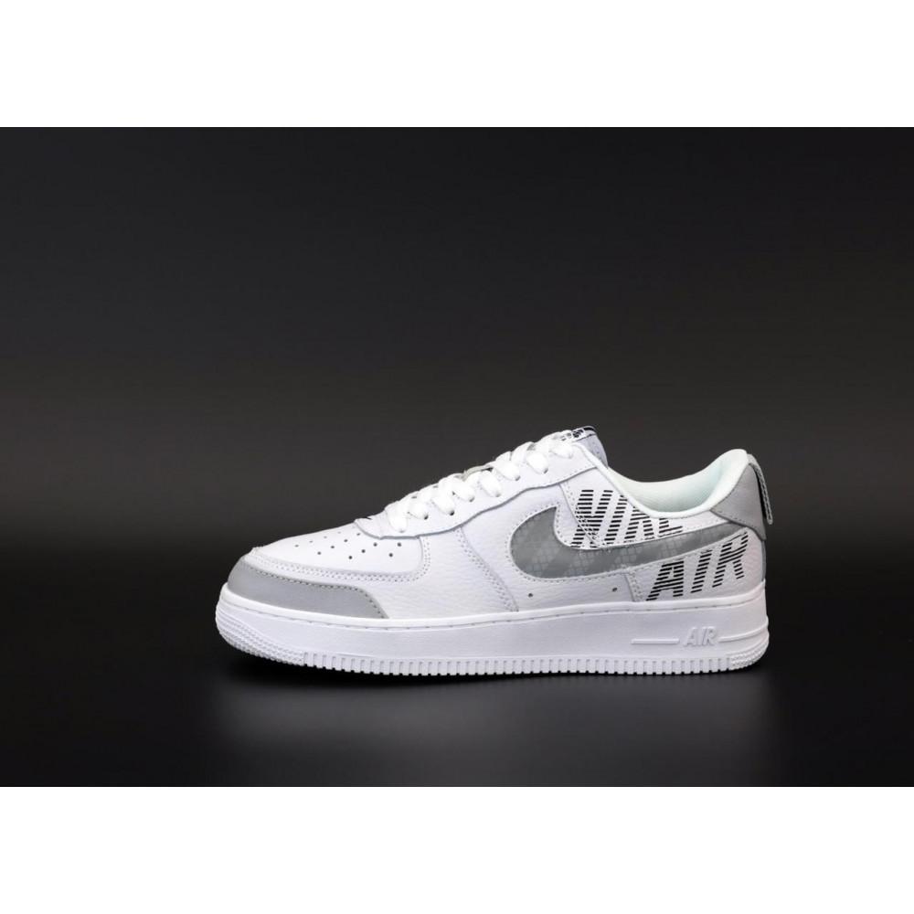 Летние кроссовки мужские - Мужские кроссовки Nike Air Force 1 Low White Grey 2