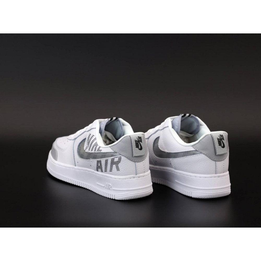 Летние кроссовки мужские - Мужские кроссовки Nike Air Force 1 Low White Grey 4