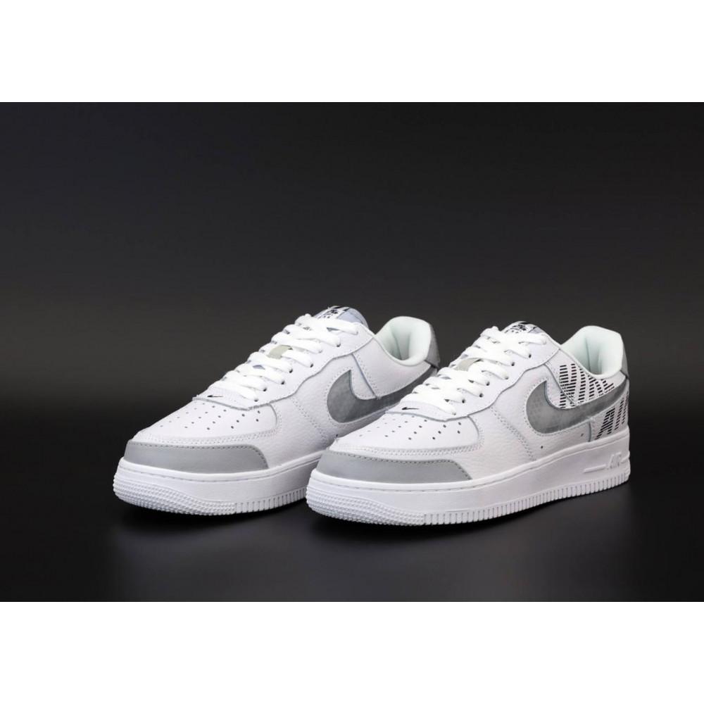 Летние кроссовки мужские - Мужские кроссовки Nike Air Force 1 Low White Grey 3