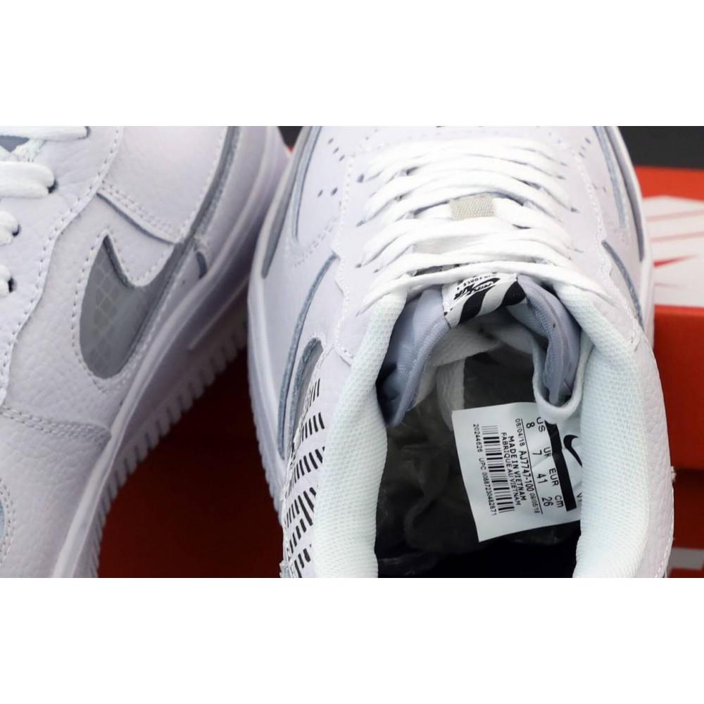 Летние кроссовки мужские - Мужские кроссовки Nike Air Force 1 Low White Grey 5