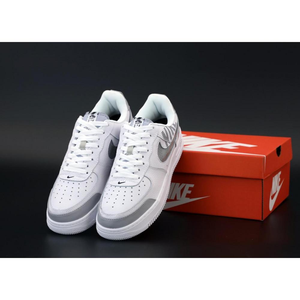 Летние кроссовки мужские - Мужские кроссовки Nike Air Force 1 Low White Grey