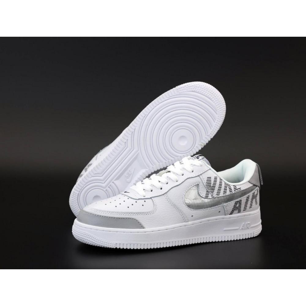 Летние кроссовки мужские - Мужские кроссовки Nike Air Force 1 Low White Grey 1