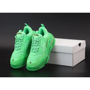 Женские кроссовки Balenciaga Triple S Green