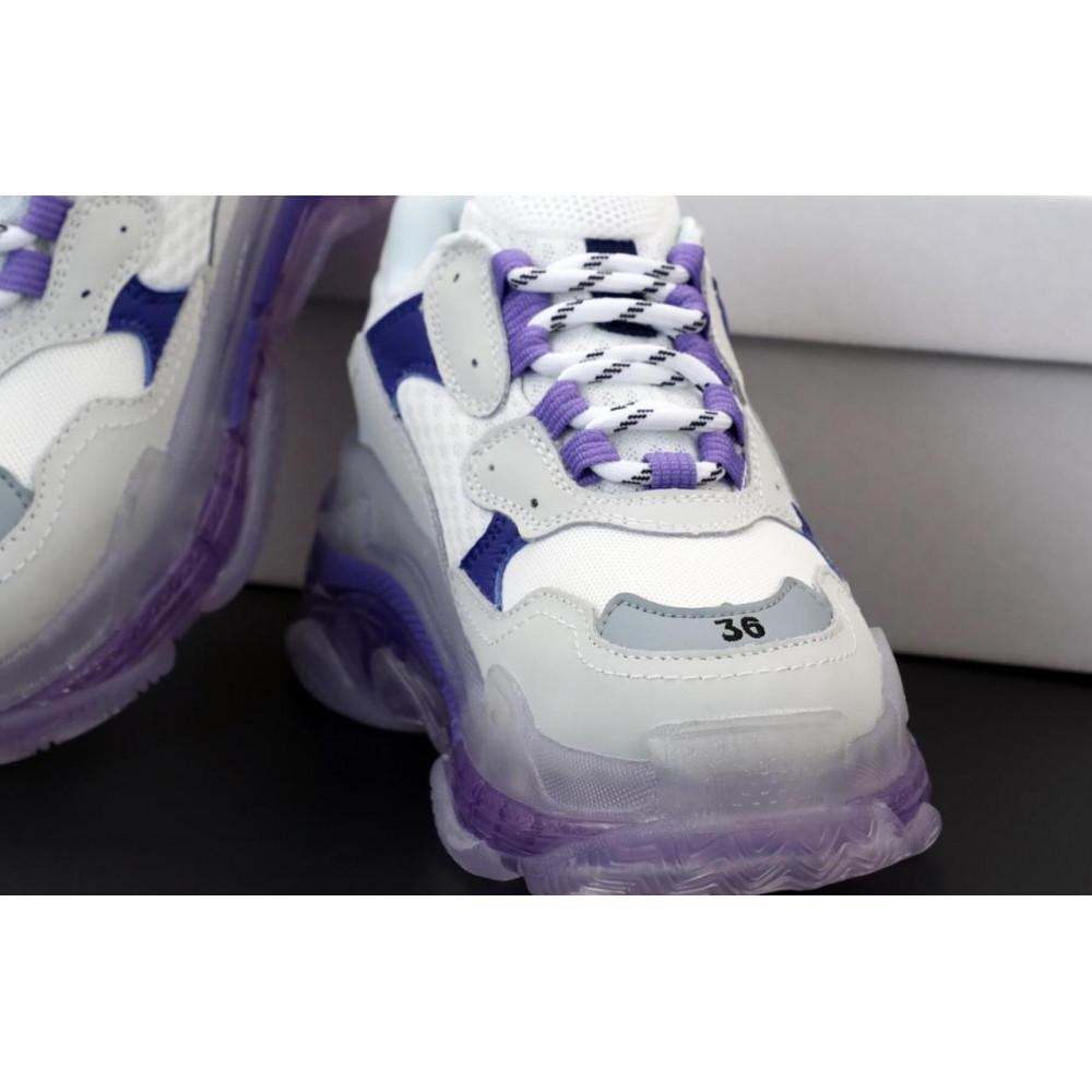 Демисезонные кроссовки мужские   - Кроссовки Balenciaga Triple S White Grey Blue 5