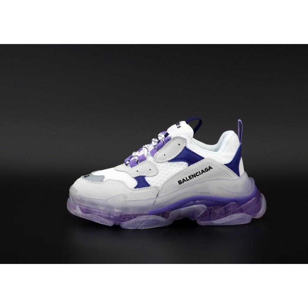 Демисезонные кроссовки мужские   - Кроссовки Balenciaga Triple S White Grey Blue 2