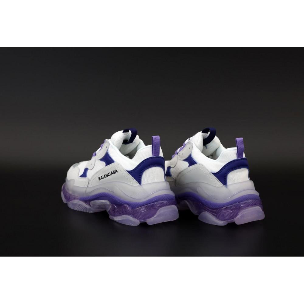 Демисезонные кроссовки мужские   - Кроссовки Balenciaga Triple S White Grey Blue 4