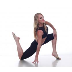 Бриджи тренировочные женские Dance&Sport NM11 черные, масло