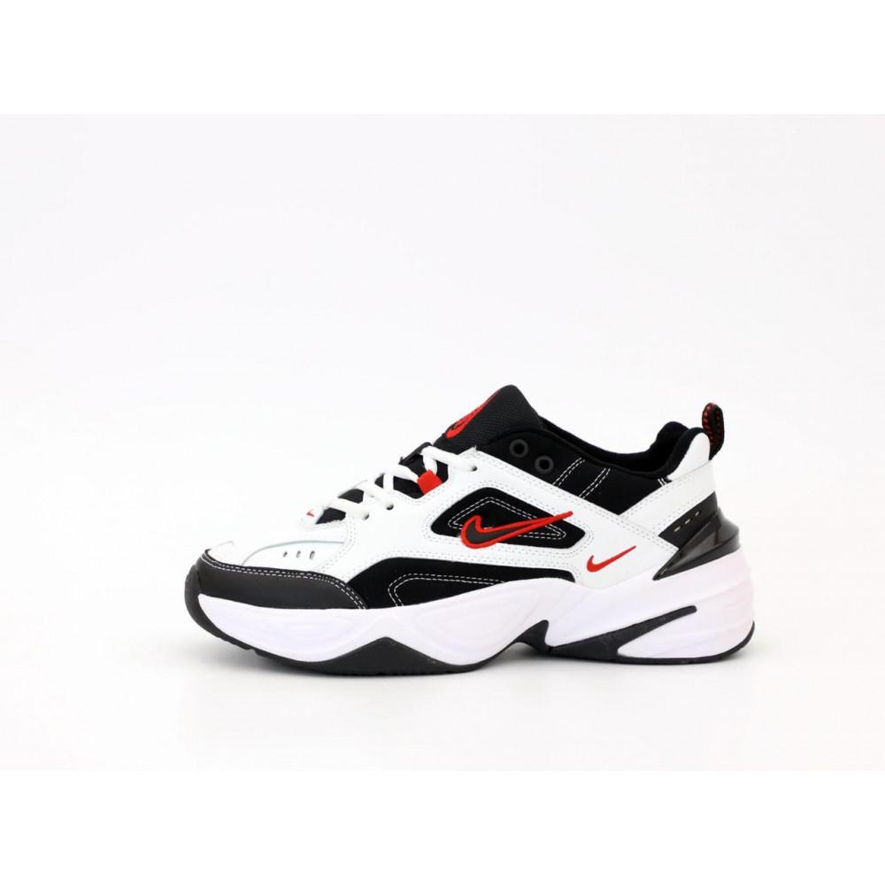 Беговые кроссовки мужские  - Найк М2К Tekno мужские черно-белые 1