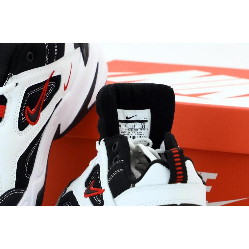 Беговые кроссовки мужские  - Найк М2К Tekno мужские черно-белые 4