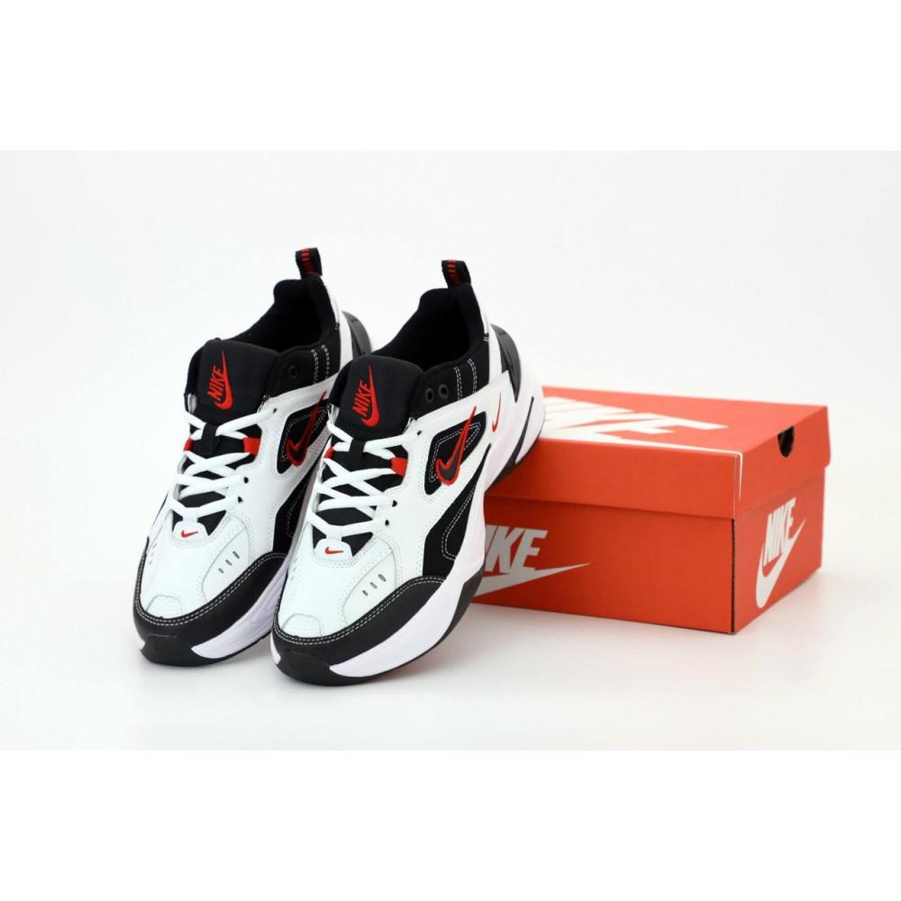 Беговые кроссовки мужские  - Найк М2К Tekno мужские черно-белые