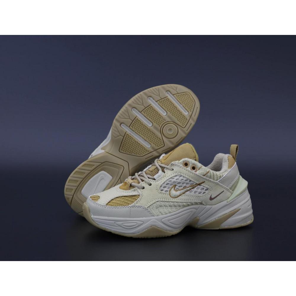 Женские кроссовки классические  - Женские кроссовки Nike M2K Tekno Grey Brown 1