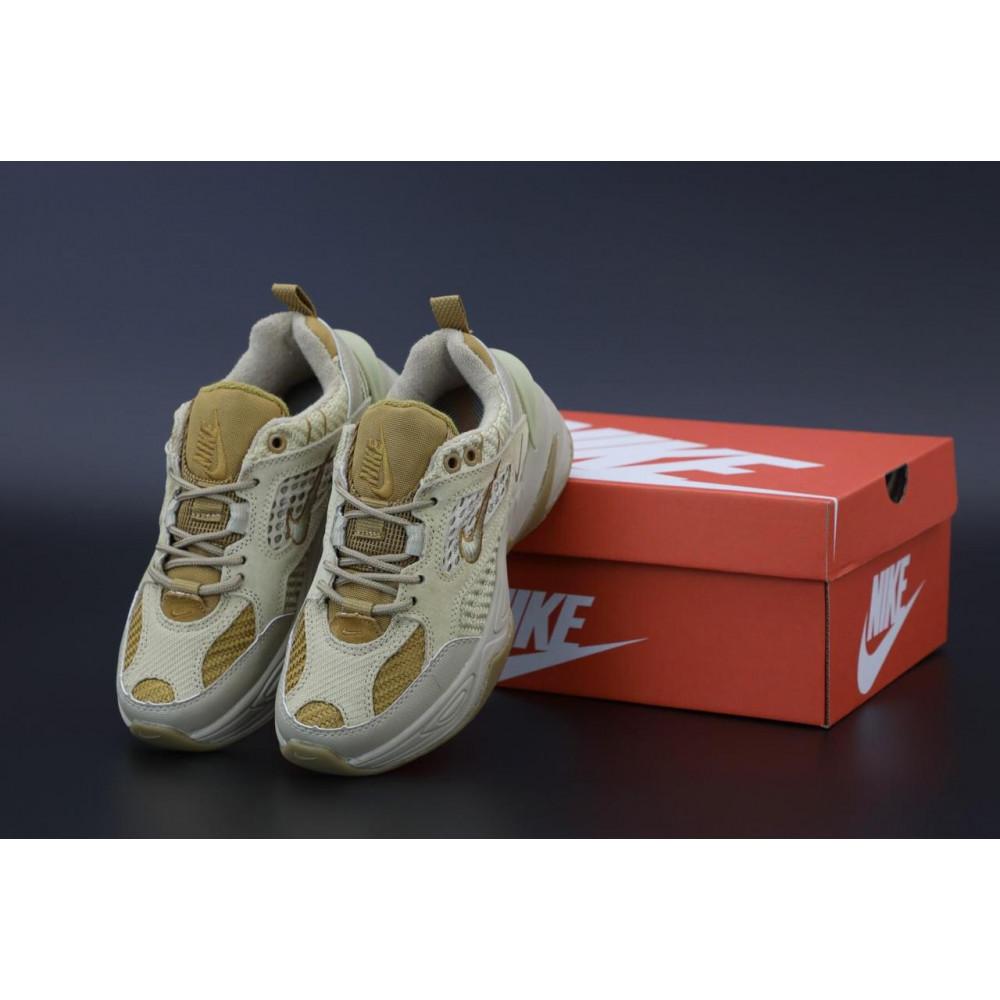 Женские кроссовки классические  - Женские кроссовки Nike M2K Tekno Grey Brown