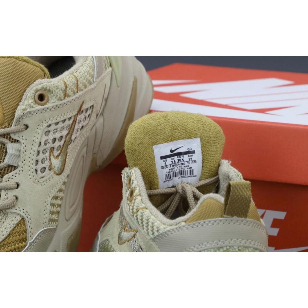 Женские кроссовки классические  - Женские кроссовки Nike M2K Tekno Grey Brown 5