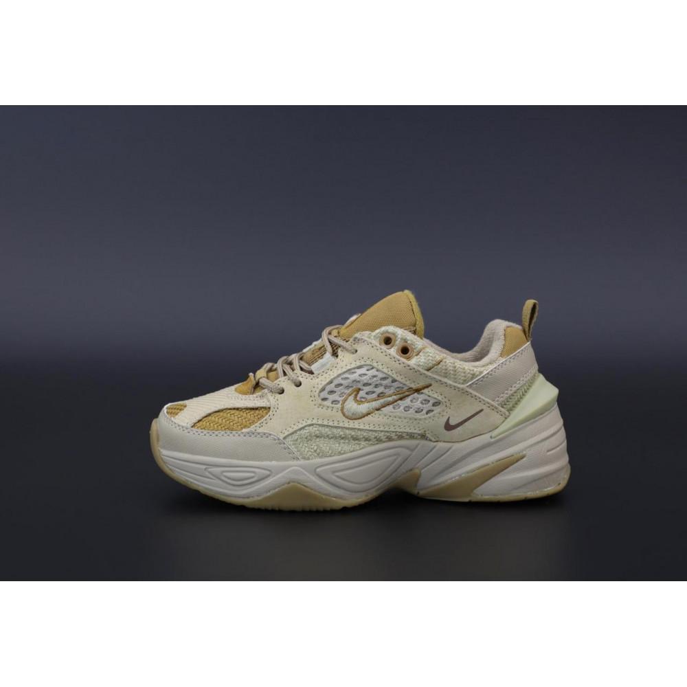 Женские кроссовки классические  - Женские кроссовки Nike M2K Tekno Grey Brown 2