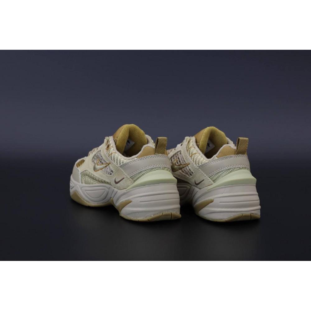 Женские кроссовки классические  - Женские кроссовки Nike M2K Tekno Grey Brown 4