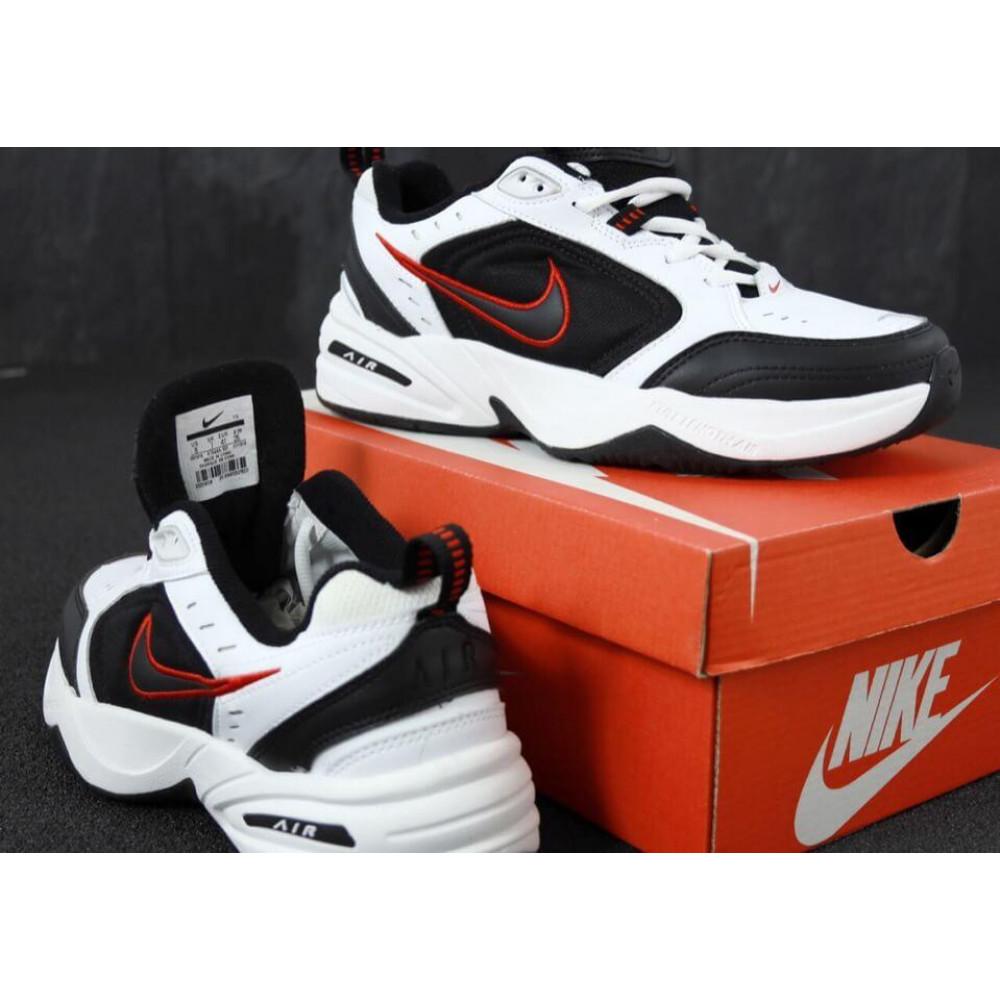 Демисезонные кроссовки мужские   - Мужские кроссовки Nike Air Monarch 4 черно-белые 4