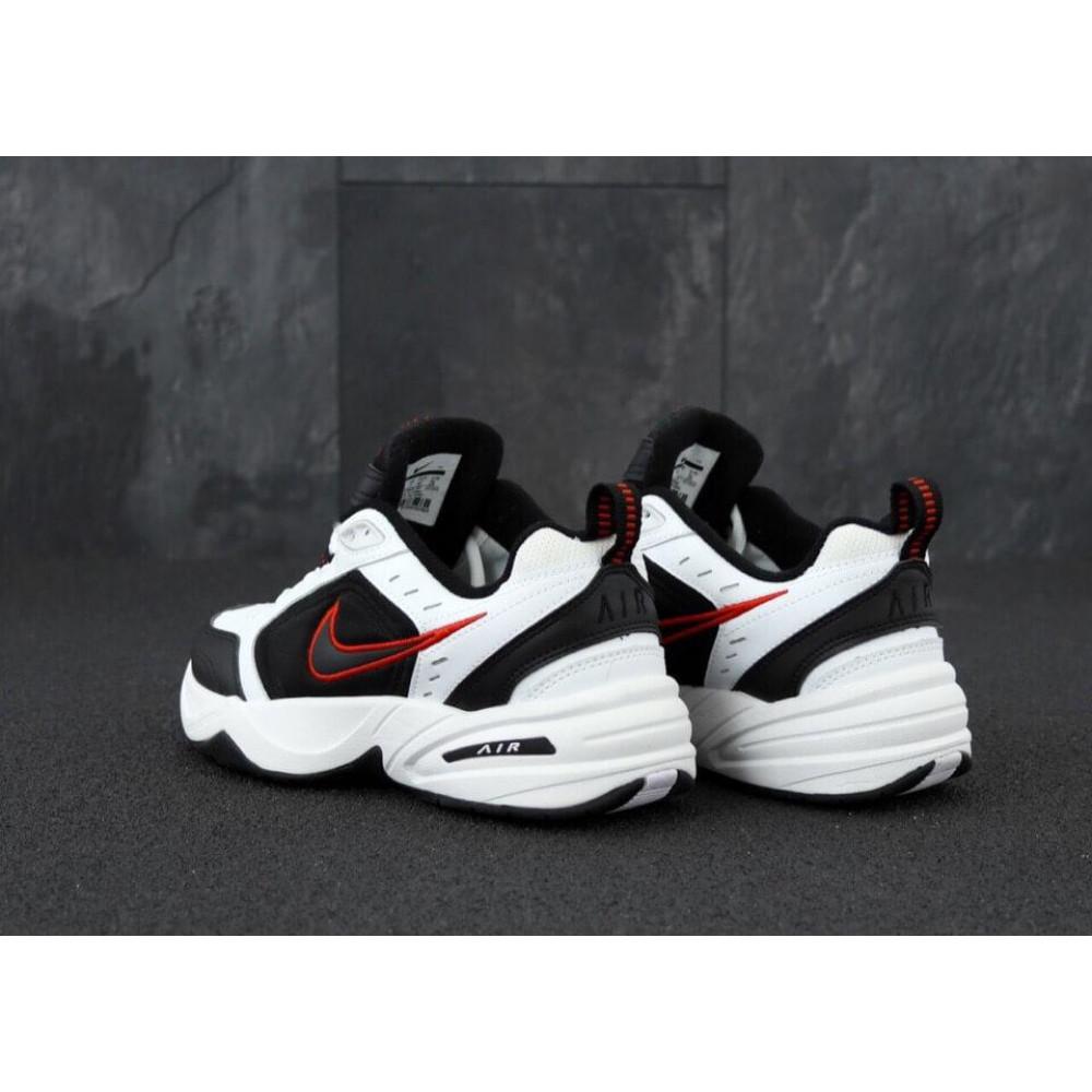 Демисезонные кроссовки мужские   - Мужские кроссовки Nike Air Monarch 4 черно-белые 3