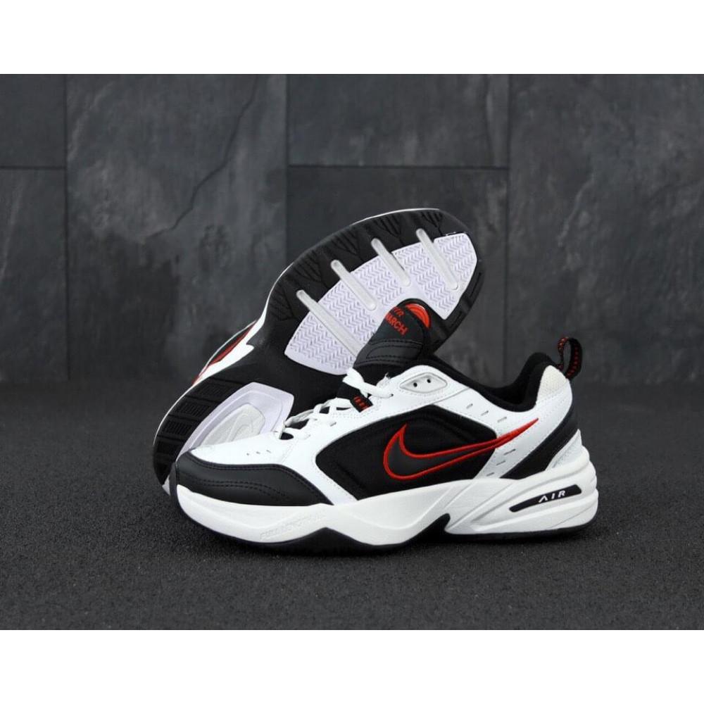 Демисезонные кроссовки мужские   - Мужские кроссовки Nike Air Monarch 4 черно-белые 1