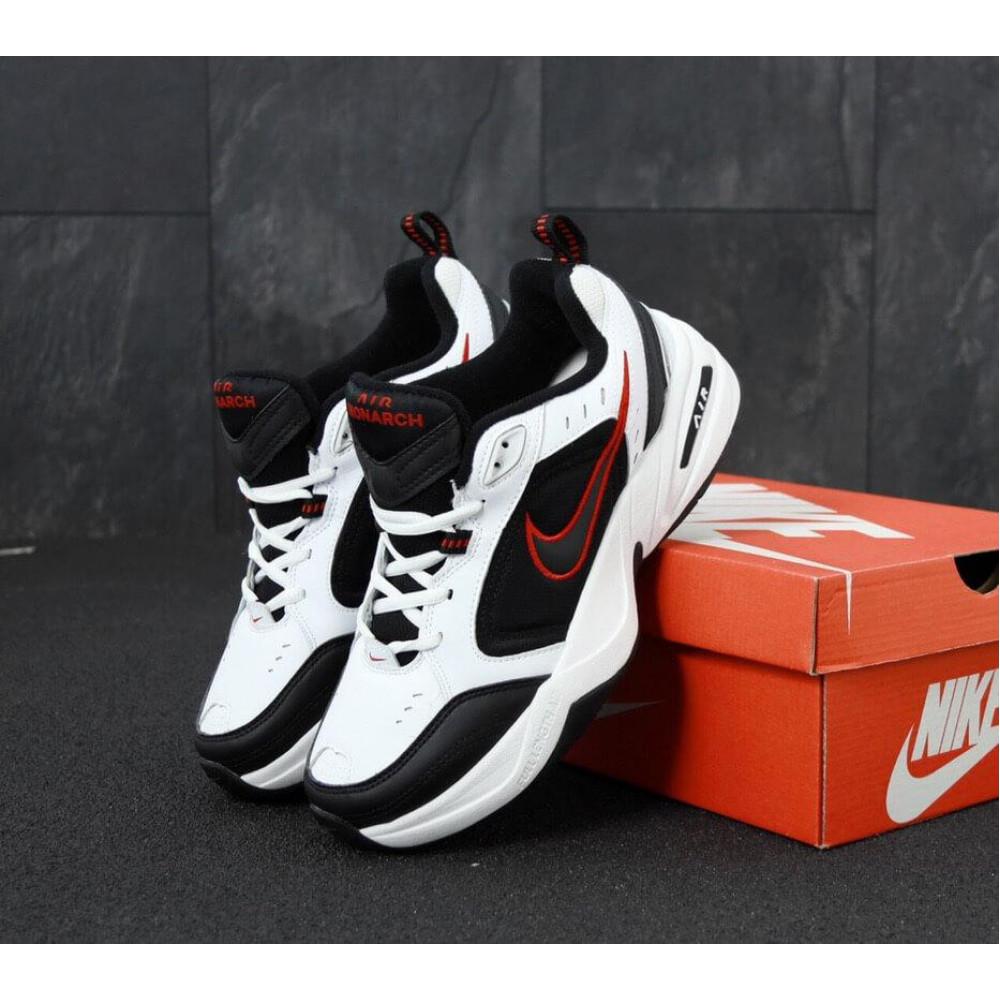 Демисезонные кроссовки мужские   - Мужские кроссовки Nike Air Monarch 4 черно-белые