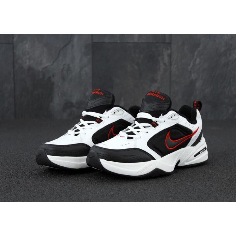 Демисезонные кроссовки мужские   - Мужские кроссовки Nike Air Monarch 4 черно-белые 2