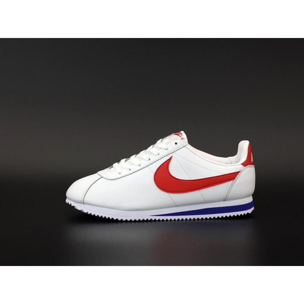 Кроссовки - Кроссовки Nike Cortez Leather белые с красным 2