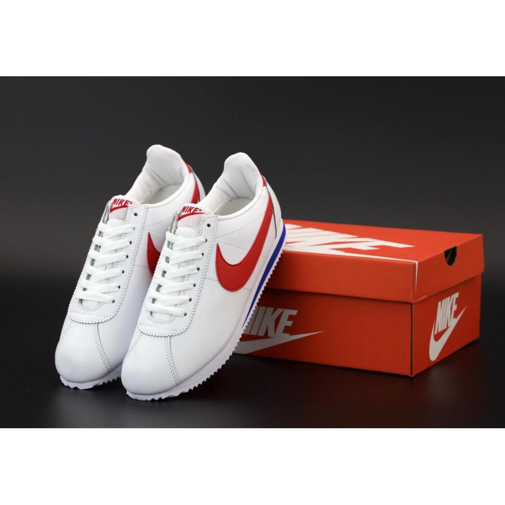 Кроссовки - Кроссовки Nike Cortez Leather белые с красным