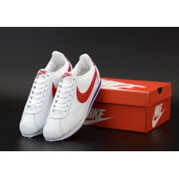Кроссовки Nike Cortez Leather белые с красным