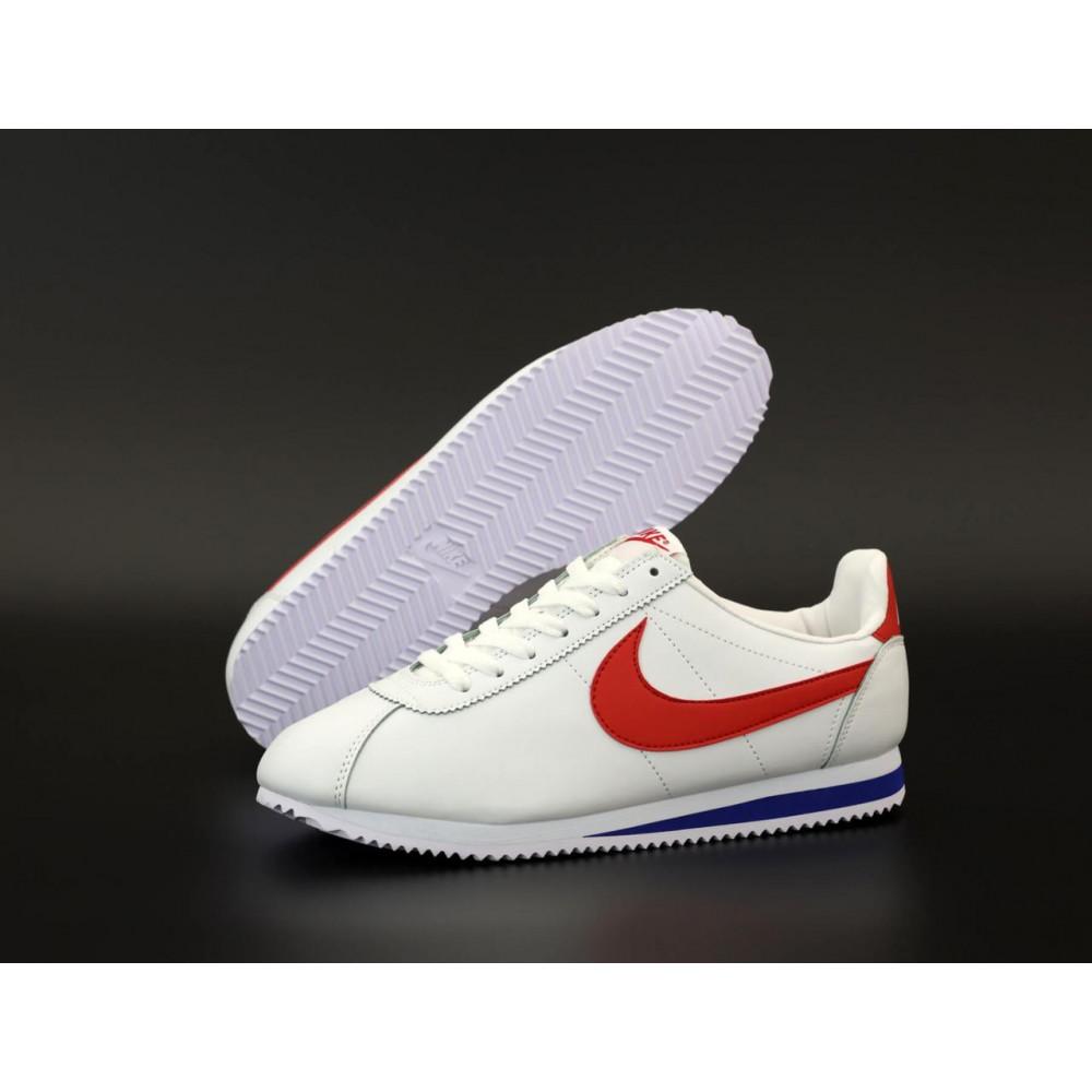 Кроссовки - Кроссовки Nike Cortez Leather белые с красным 1