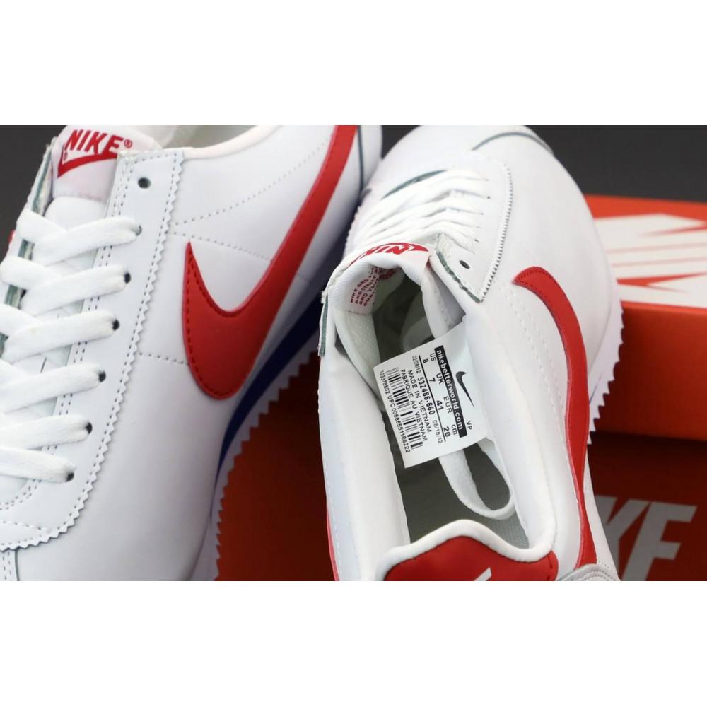 Кроссовки - Кроссовки Nike Cortez Leather белые с красным 5