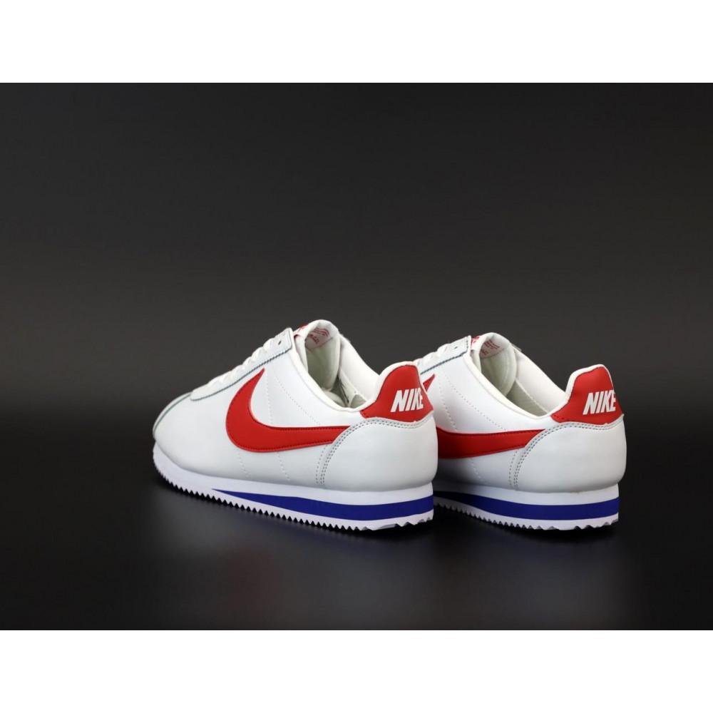 Кроссовки - Кроссовки Nike Cortez Leather белые с красным 4