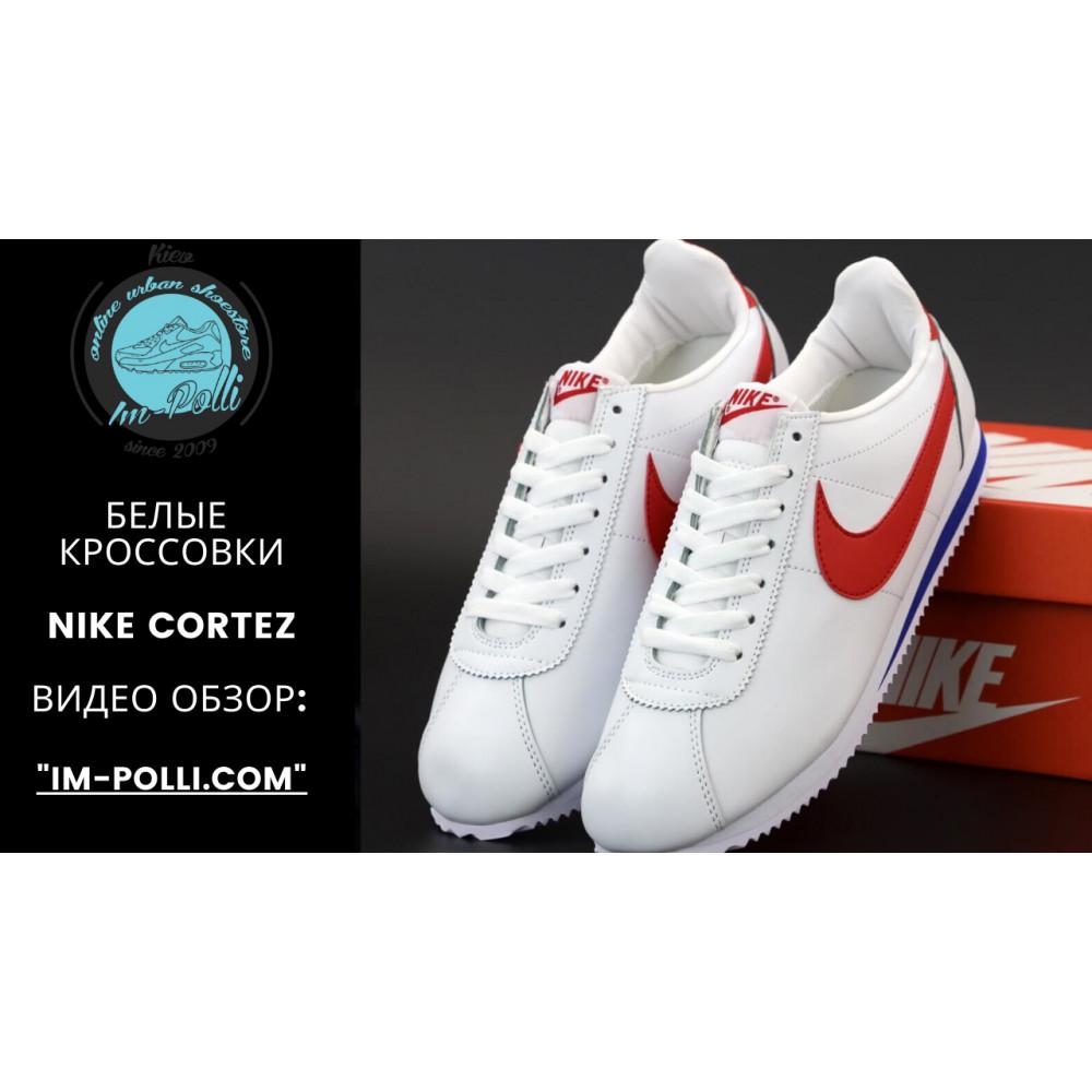 Кроссовки - Кроссовки Nike Cortez Leather белые с красным 6