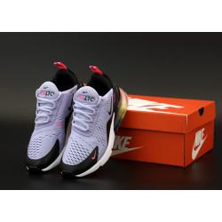 Женские кроссовки Nike Air Max 270 серые с черным