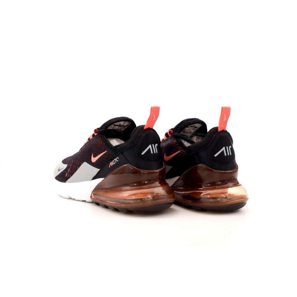 Классические кроссовки мужские - Кроссовки Nike Air Max 270 черно-серо-оранжевые 4