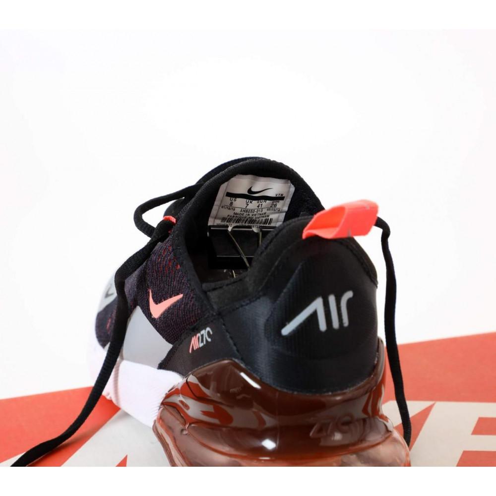 Классические кроссовки мужские - Кроссовки Nike Air Max 270 черно-серо-оранжевые 5