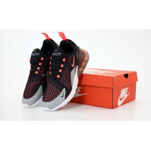 Кроссовки Nike Air Max 270 черно-серо-оранжевые