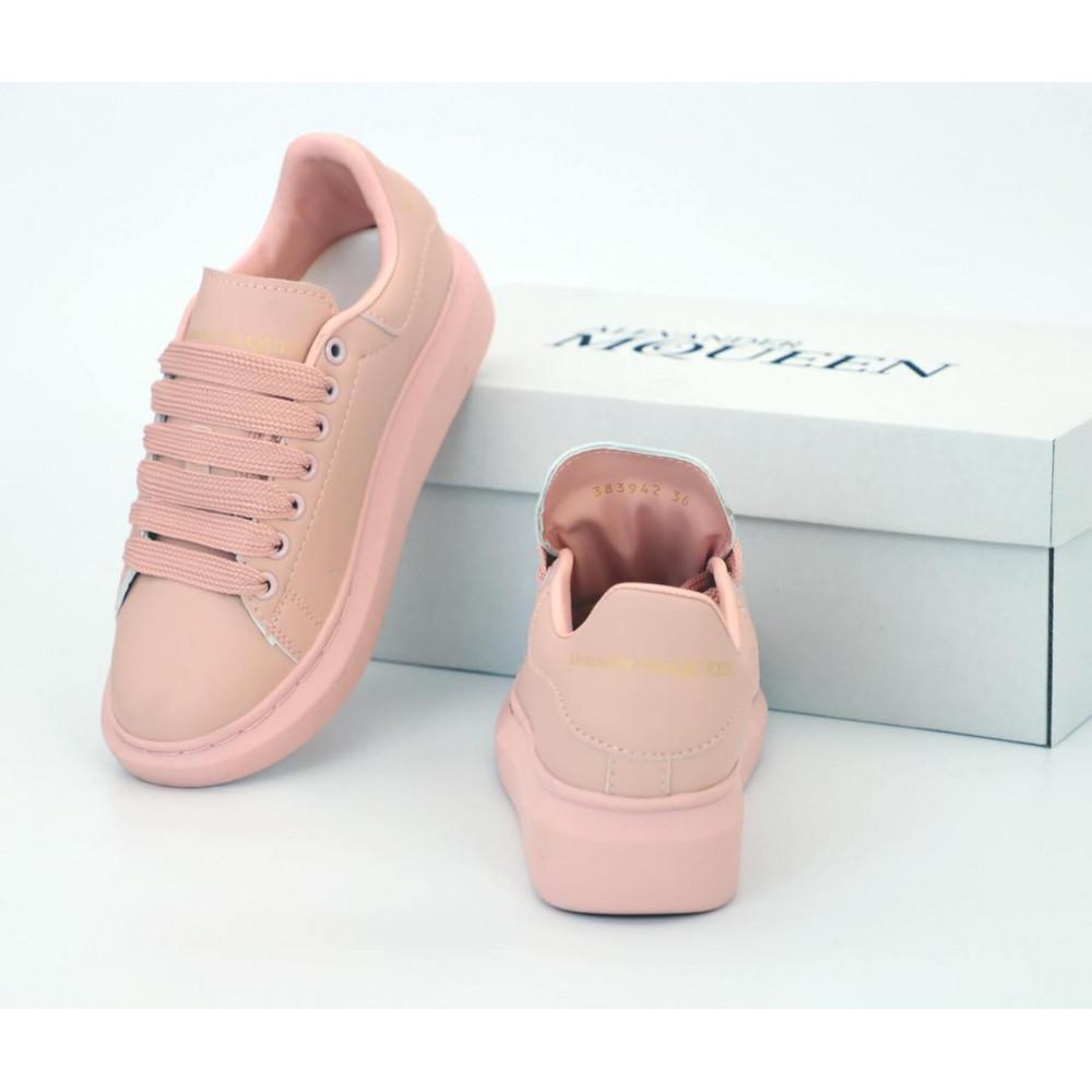 Женские кроссовки классические  - Женские кроссовки Alexander McQueen в розовом цвете 5