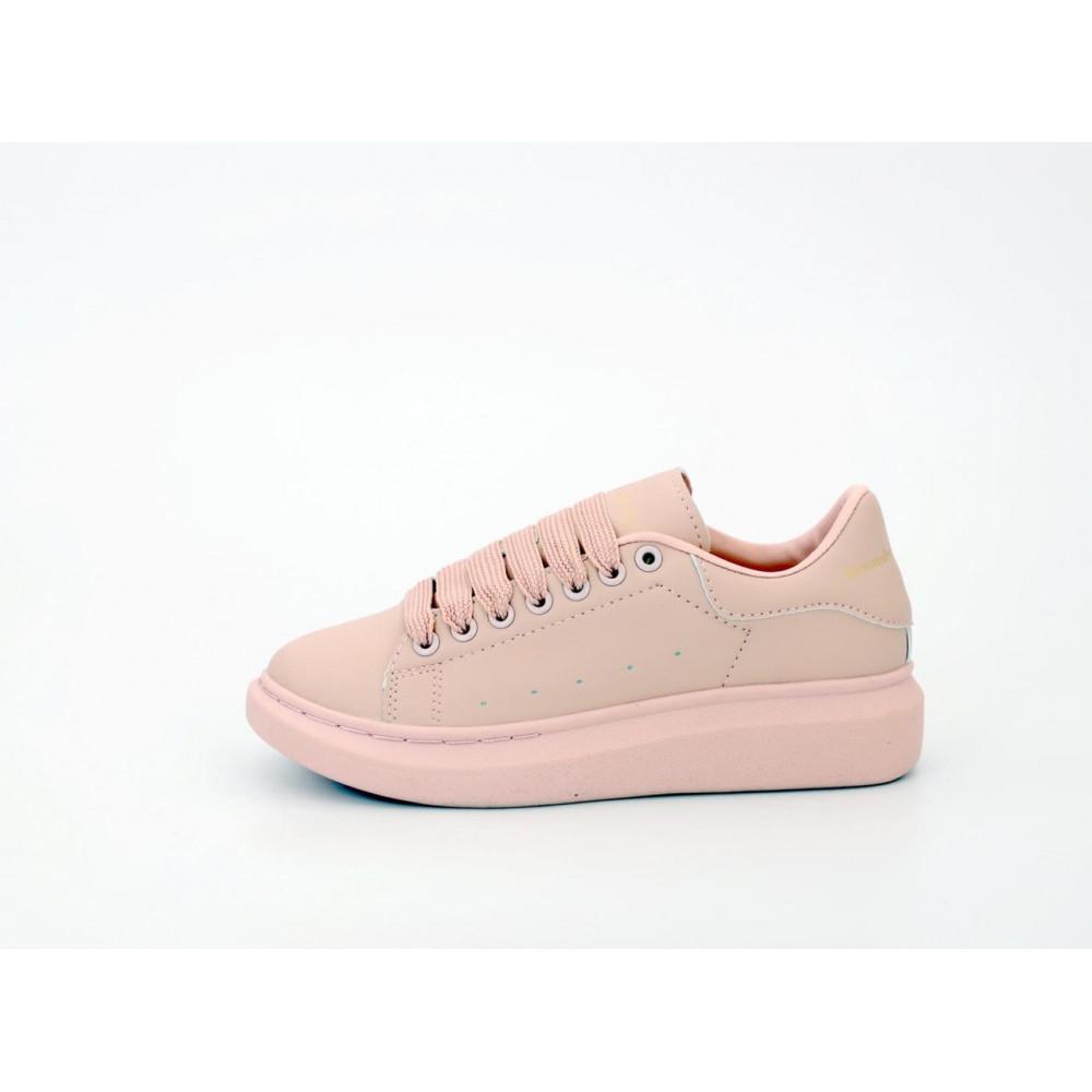 Женские кроссовки классические  - Женские кроссовки Alexander McQueen в розовом цвете 2