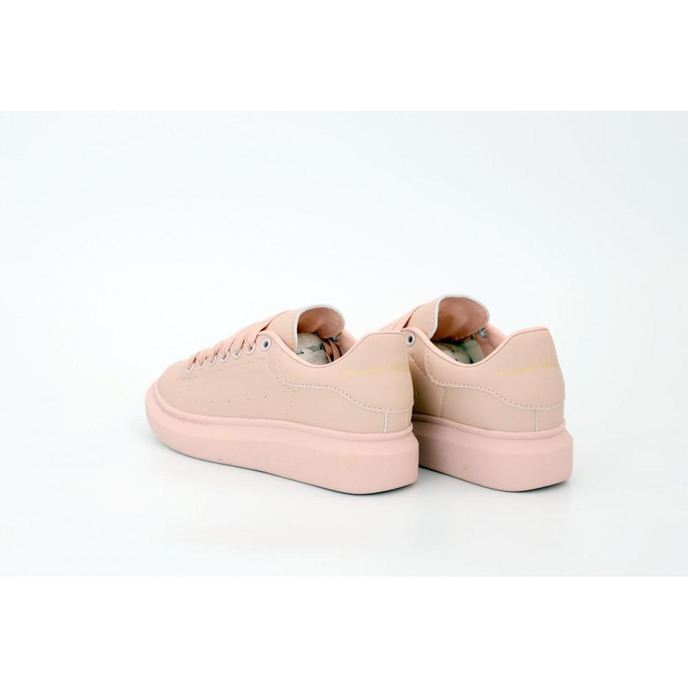 Женские кроссовки классические  - Женские кроссовки Alexander McQueen в розовом цвете 4