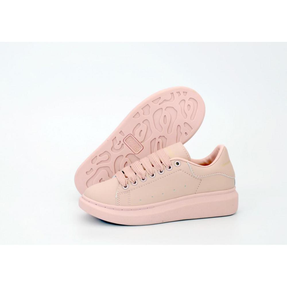 Женские кроссовки классические  - Женские кроссовки Alexander McQueen в розовом цвете 1