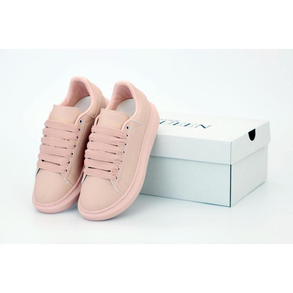 Женские кроссовки классические  - Женские кроссовки Alexander McQueen в розовом цвете