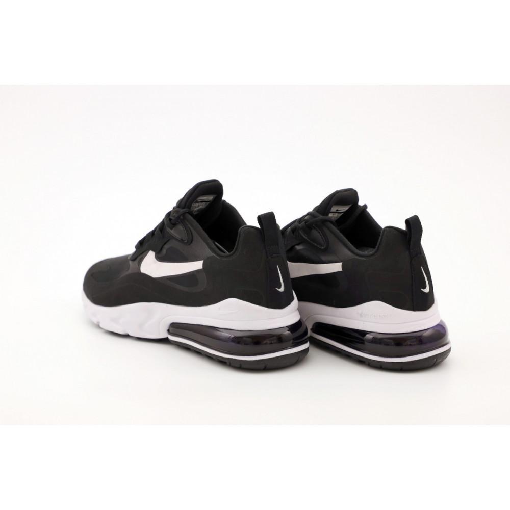 Демисезонные кроссовки мужские   - Мужские кроссовки Nike Air Max 270 React черно-белые 5