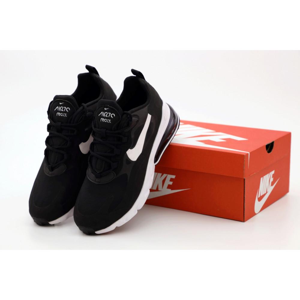 Демисезонные кроссовки мужские   - Мужские кроссовки Nike Air Max 270 React черно-белые