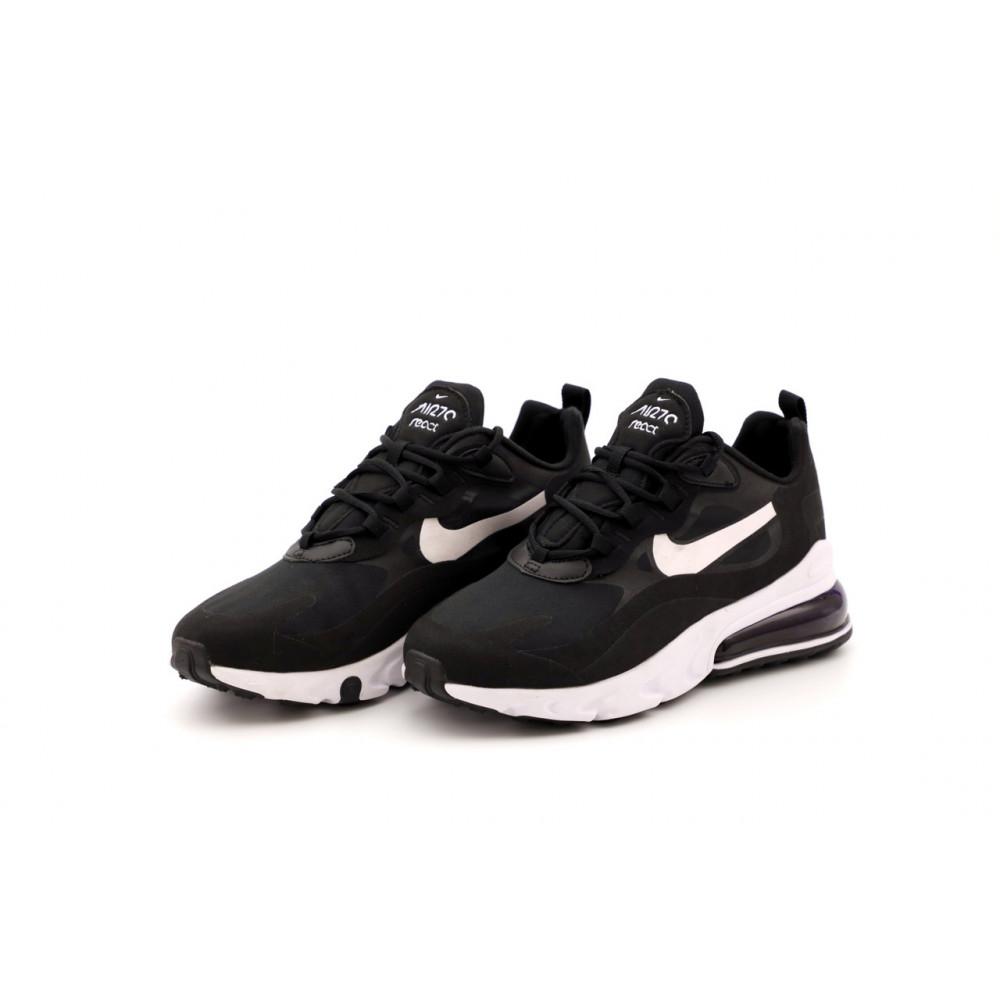Демисезонные кроссовки мужские   - Мужские кроссовки Nike Air Max 270 React черно-белые 4