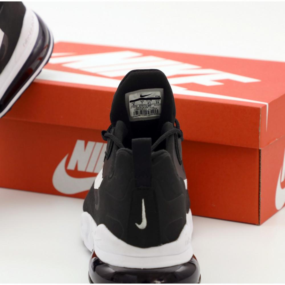 Демисезонные кроссовки мужские   - Мужские кроссовки Nike Air Max 270 React черно-белые 3