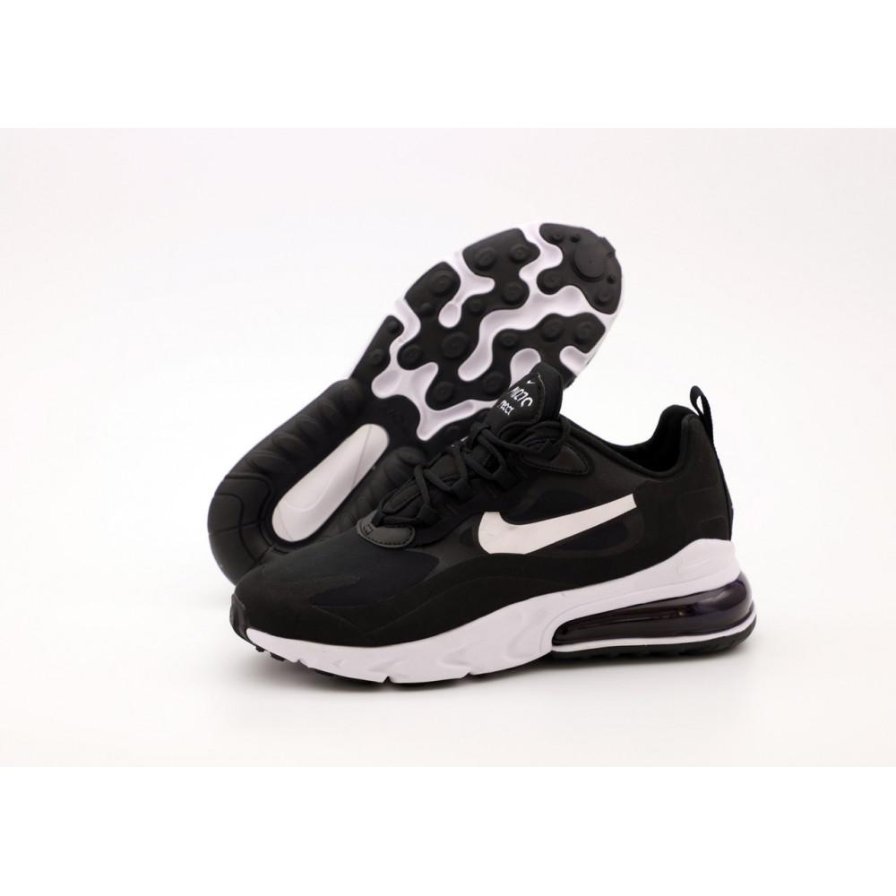 Демисезонные кроссовки мужские   - Мужские кроссовки Nike Air Max 270 React черно-белые 1