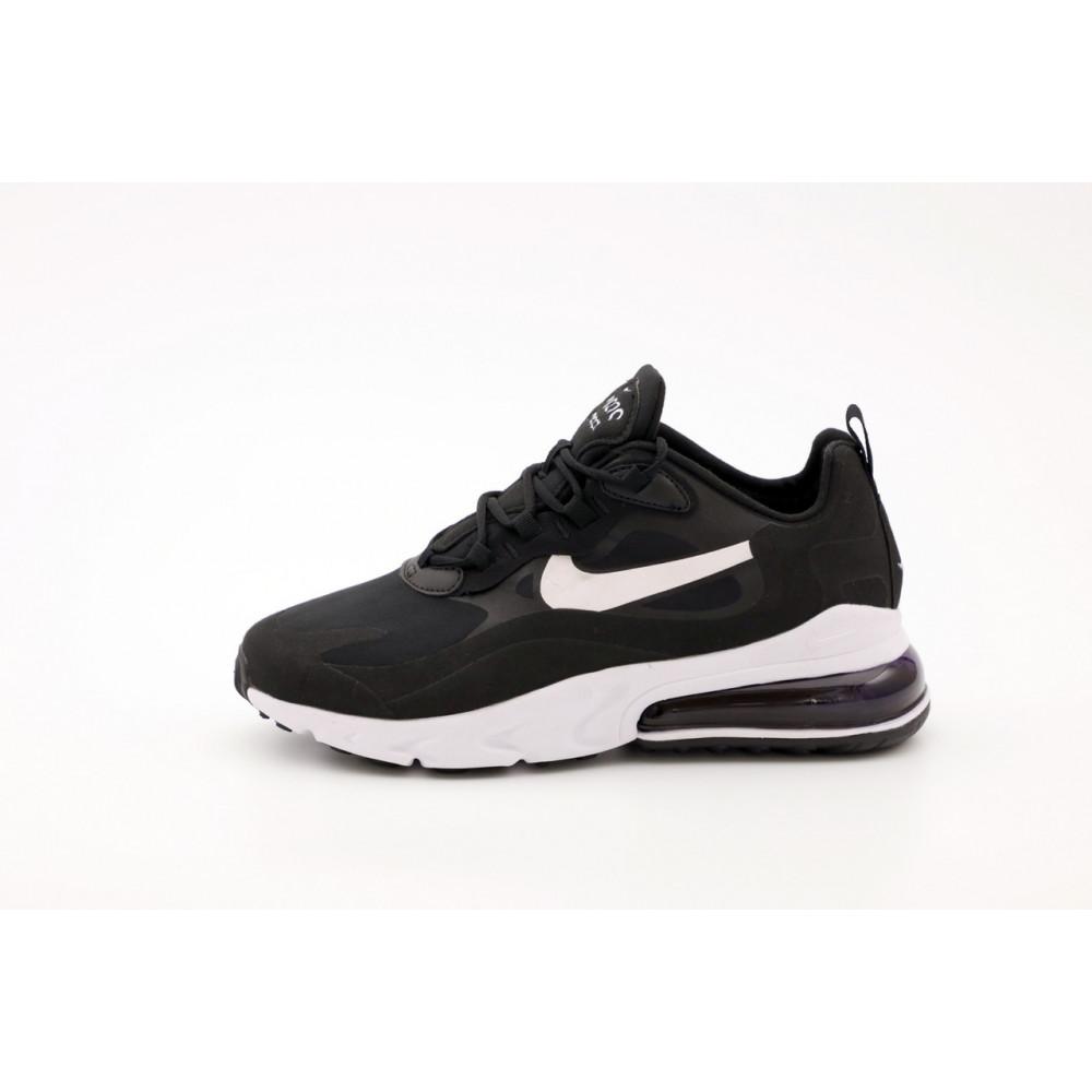 Демисезонные кроссовки мужские   - Мужские кроссовки Nike Air Max 270 React черно-белые 2