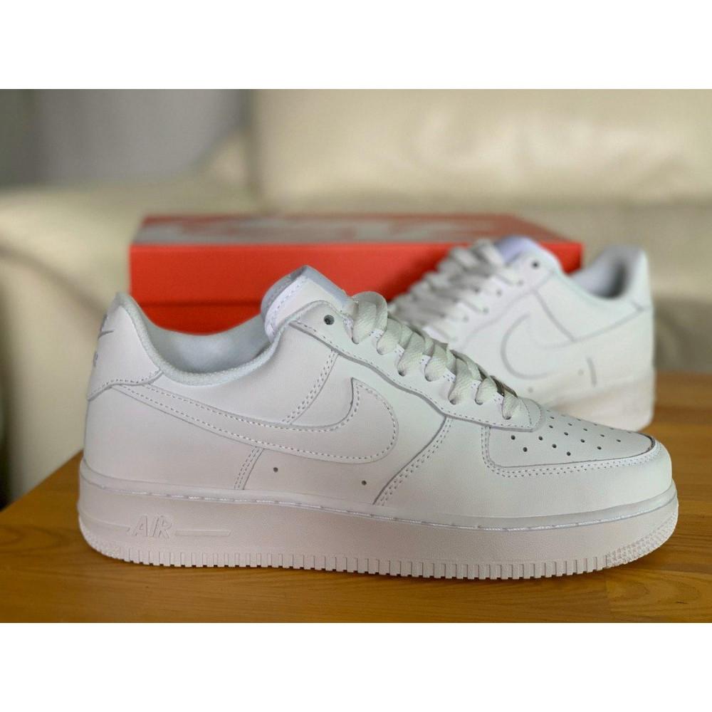 Демисезонные кроссовки мужские   - Кроссовки белые низкие натуральная кожа Nike Air Force Найк Аир Форс (43,44,45) 8