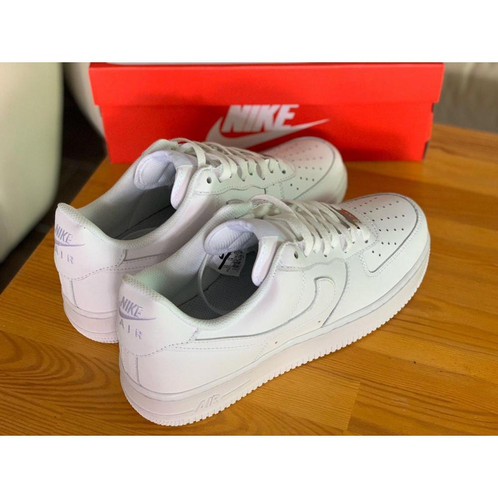 Демисезонные кроссовки мужские   - Кроссовки белые низкие натуральная кожа Nike Air Force Найк Аир Форс (43,44,45) 7
