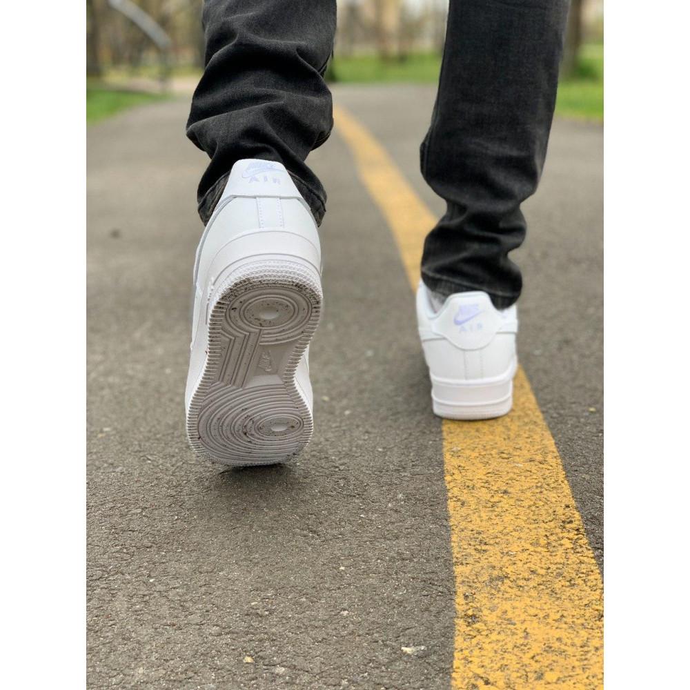 Демисезонные кроссовки мужские   - Кроссовки белые низкие натуральная кожа Nike Air Force Найк Аир Форс (43,44,45) 3