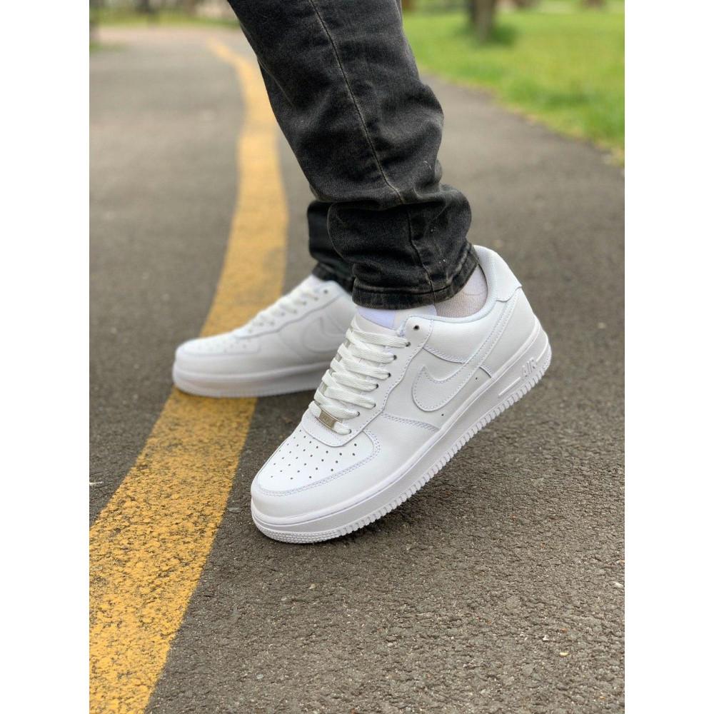 Демисезонные кроссовки мужские   - Кроссовки белые низкие натуральная кожа Nike Air Force Найк Аир Форс (43,44,45) 4